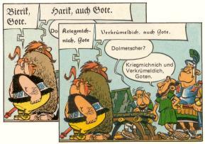 Die Goten Bierik alias Kriegmichnich und Harik alias Verkrümeldich stellen sich vor